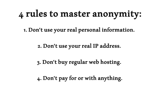 What you should do to stay anonymous